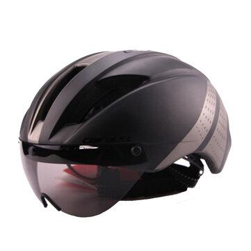 Cairbullスポーツアウトドアゴーグルロードバイクマウンテンバイクヘルメット57-61CMサイクリングバイクヘルメット