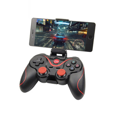 Bakeey Inalámbrico Bluetooth 3.0 Gamepad Joystick Game Controller + Holder + Receiver para teléfono Tablet