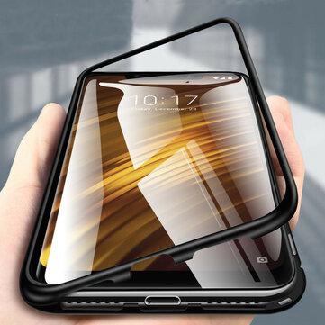 Bakeey 360 ° Magnético de adsorción de metal templado protector de tapa de vidrio Caso para Xiaomi Pocophone F1
