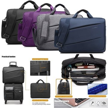 17.3 inch Large Capacity Laptop Bag Multi-functional Briefcase Multi-compartment Handbag Men Messenger Shoulder Bag