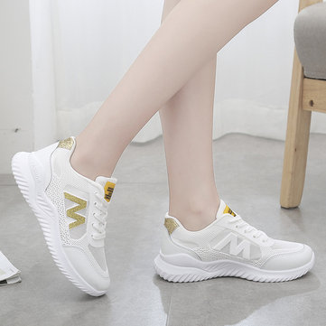 Sports Shoes Women's Season Breathable Casual Shoes New Wild Thick-soled Students White Shoes Tide Old Shoes