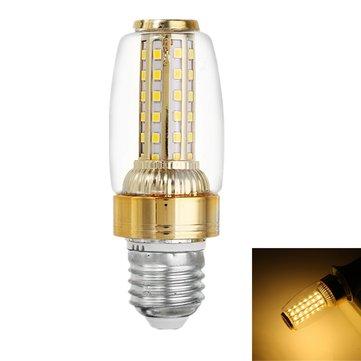 E27 E14 9W SMD2835 58LED 暖かい白グロディンレトロキャンドル 電球 AC85-265V