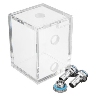 G1/4 Acrylic 250ml Water Tank With 2 Conector Para PC CPU Liquid Cooling System