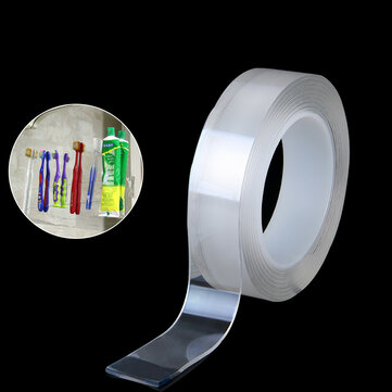 1/3/5M Nano PU Gel Double-Sided Traceless Tape Transparent Adhesive Tapes