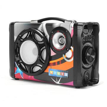 MS 158BT-B 20W Portable bluetooth Speaker Double Units Wireless TF Card U Disk Subwoofer Speaker