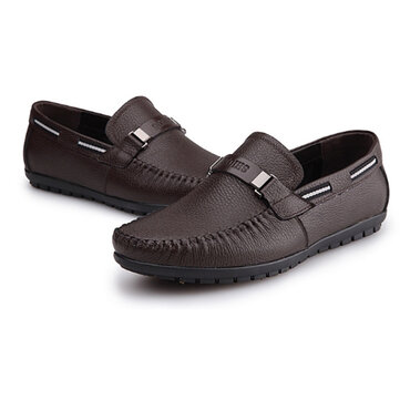 Big Size Soft Comfortable Genuine Leather Flats