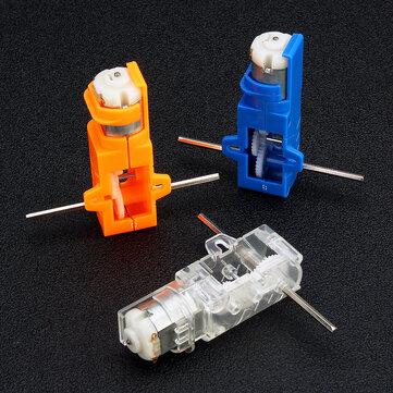 1:28 Transparentna / niebieska / pomarańczowa oś sześciokątna Axis 130 Skrzynia biegów silnika do modelu samochodu z podwoziem