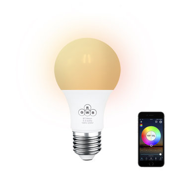 E27 4.5W RGBW 350LM Sync Control Dimmable bluetooth Mesh Smart LED Light Bulb AC100-264V