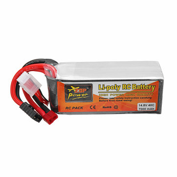 ZOP Power 14.8V 7000mah 40C 4S Lipo Battery TRX Plug for Traxxas