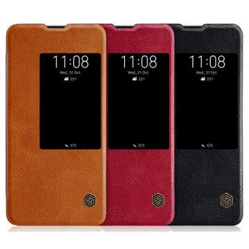 NILLKIN Flip À Prova de Choque de Couro Inteligente de Sono Protetora Caso Para Huawei Mate 20 Pro