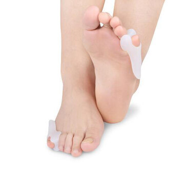 1 Pair Foot Support Small Toe Corrector Protective Correction Sleeve for Foot Care Toe Pad