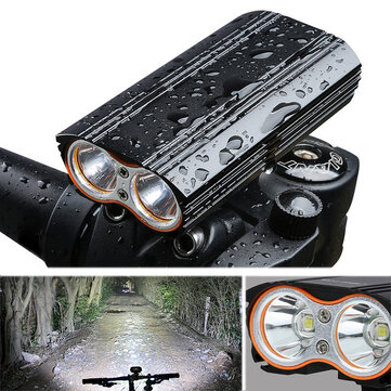 XANES DL06 1200LM 2T6 150° Large Floodlight 6000mAh Battery Bicycle Headlight 4 Modes USB Rechargeable