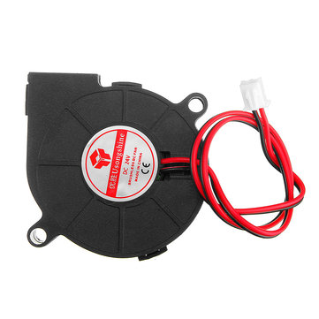 8pcs 24V 0.15A 5015 Sleeve Bearing Brushless Turbo Cooling Fan with 2Pin XH2.54 Wire for 3D Printer