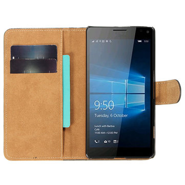 Mohoo Flip Leather Wallet Card Slot Case Cover Stand For Microsoft Lumia 950 XL