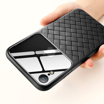 Baseus Protective Case For iPhone XR Scratch Resistant Tempered Glass Woven TPU Back Cover