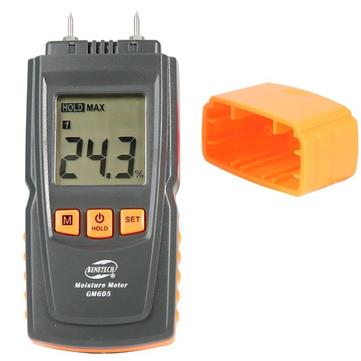 GM605 Digital LCD Display Holzfeuchtemessgerät Feuchtemessgerät Holzfeuchtemessgerät Tragbares Holzfeuchtemessgerät