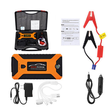 JX27 88000mAh 4USB Car Jump Starter Pack Booster Multifunction Emergency Power Supply Starter Charger