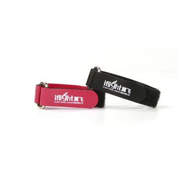 10 Pcs iFlight 10X130mm Bateria Strap Fivela de Metal Vermelho de couro de Patente para RC Lipo Bateria