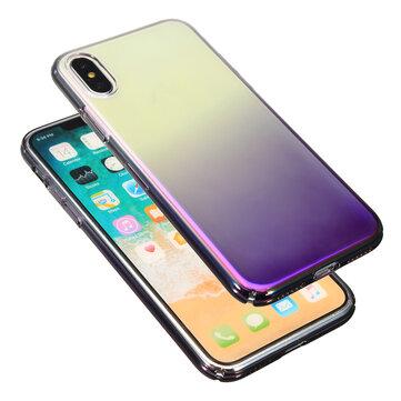 цвет Gradient Shockproof Прозрачный жесткий ПК Чехол Обложка для iPhone X