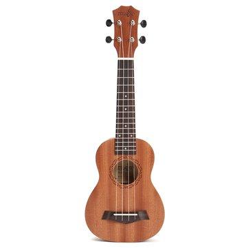 21インチアコースティックソプラノハワイサペルウクレレ楽器