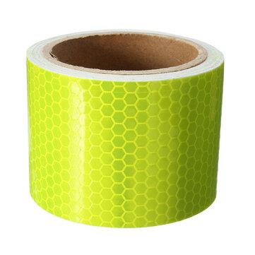 10FT Fluorescent Yellow Reflective Advertencia de Seguridad Conspicuity Tape Film Sticker