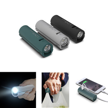 LOVExtend Rechargeable Flashlight 3000mAh Power Bank Portable Grip Ourdoor LED Night Light Mini Bike Light From Xiaomi Youpin