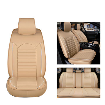 4 Colors Universal PU Wear-resistant Leather Car Seat Mat Cover Breathable Cushion Pad