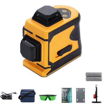 Laser Level 12 Lines Green Self Leveling 360° Rotary Cross Laser Measuring Tool