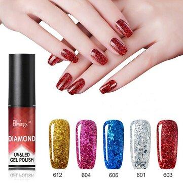 Diamante Unhas Gel Polonês Lantejoulas De Metal Gel Polonês Precisa UV/LED Lâmpada Unhas Arte 20 Cor Para A Escolha