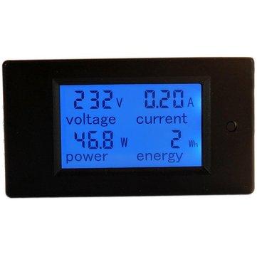 PZEM-021 4 في 1 لد الجهد الحالي النشطة الطاقة الطاقة متر الأزرق الخلفية لوحة الفولتميتر مقياس الأموات كو متر 0-20a 80-260 فولت 50/60 هرتز