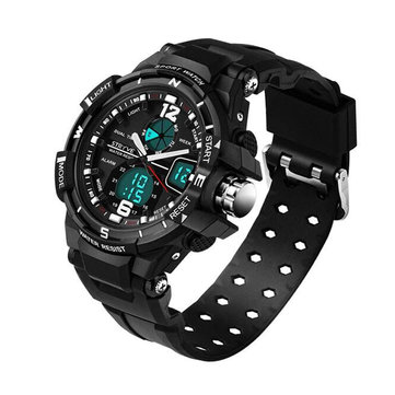 STRYVE S8012 Chronograph Luminous Week Display Waterproof Men Sport Dual Display Digital Watch