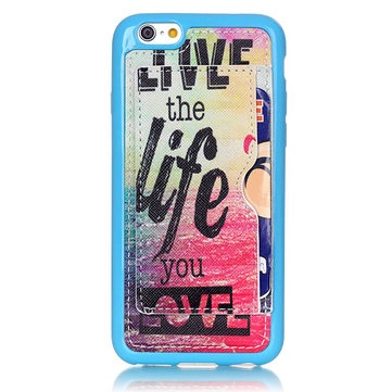 Sun Life Pattern Back Holder Case For iPhone 6 Plus & 6s Plus