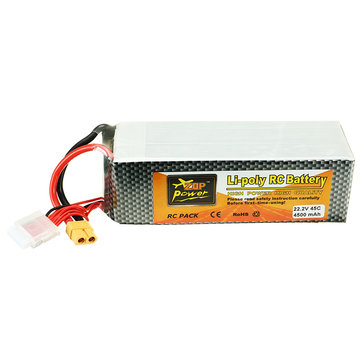 ZOP Power 22.2V 4500mah 45C 6S Lipo Battery XT60 Plug for ALZRC 505 RC Helicopter