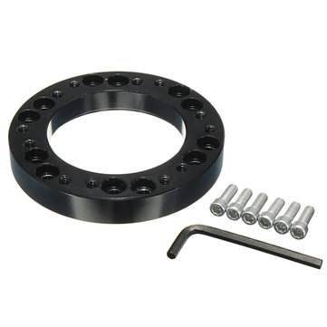 Black Steel Ring Wheel Hub Kit Spacer Kit para NARDI SPARCO PESSOAL OMP MOMO