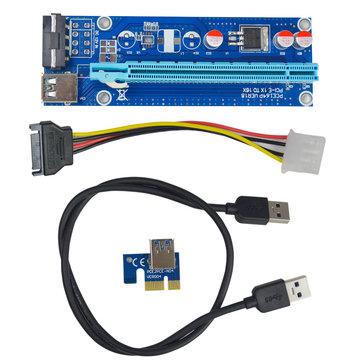 Segotep 0.6m USB 3.0 PCI-E Express 1x〜16x拡張ケーブルエクステンダーライザーカードアダプター(マイニング用)