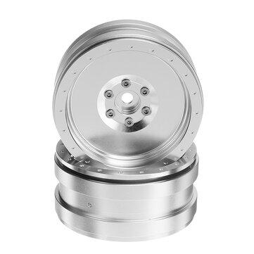 Metal 2PCS RC Coche Cubo de rueda 2.2Inch para 1/10 1/8 RC Rock Crawler RC Coche