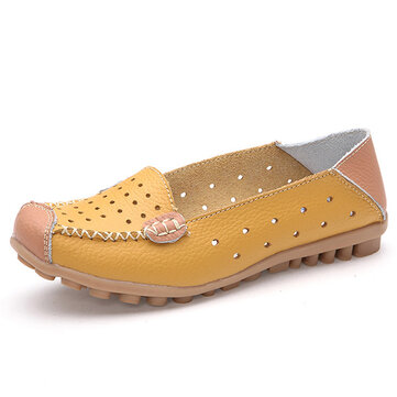 Women Casual Flat Shoes Slip-on Leisure Shoes Breathable Ballet Shoes