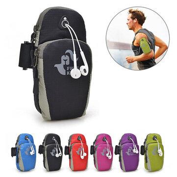 Ücretsiz Knight 5.5 İnç Spor Koşu Kolu Çanta Kılıfı Telefon Kulaklığı Delikli iphone 7 Plus için 6s Plus
