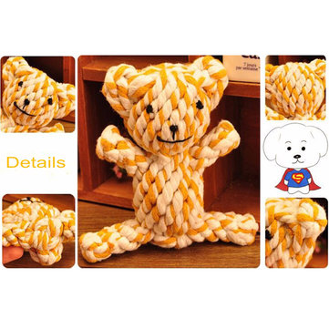 Pet Toy Cute Braided Bear Chew Knot Toys Dog Pet Puppy Strong Cotton Rope Play Cute Lovely FunTeeth