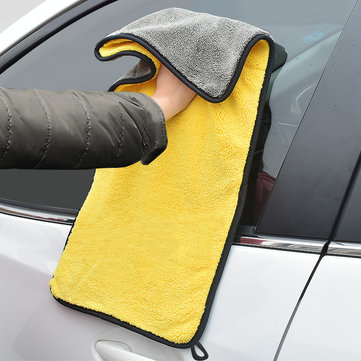 Double Color Microfiber Car Wash Towel Cleaning Drying Care Cloth Hemming Strong Absorbent