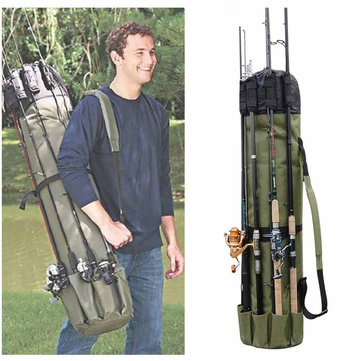 Portable Multifunction Nylon Fishing Rod Bag Fishing Tackle Case Fishing Tools Storage Bag