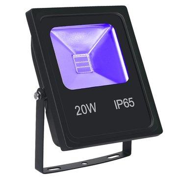 Digoo ST-8 20W UV Flood Light avec COB LED IP65 étincelant feux noir pour l'extérieur Halloween Neon Glow Party and Stage Lighting
