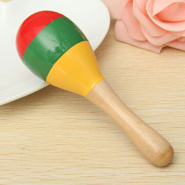 Popular Kids Baby Sound Music Toddler Rattle Musical Wooden Colorful Toys Gift