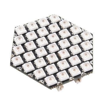 M5Stack® WS6812 37Pcs HEXES RGB LED Hexágono LED Placa com 3 portas GROVE Compatível com M5Stack UI-Flow