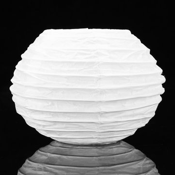 10Pcs White Round Paper Lantern Wedding Lamp Shade Party Lamp Cover Ceiling Decor
