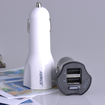 JC09 Universal 2A Double USB Car Charger for Mobile Phone iPhone 6 5 HTC