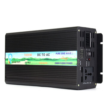 DC 12V To AC 220V Power Inverter Pure Sine Wave Converter Solar LED Display 1000W 2000W 3000W