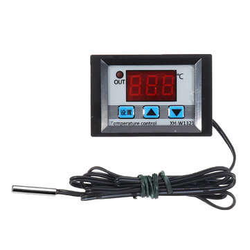 XH-W1321 0.1 Mini Digital Thermostat Embedded Digital Display Switch Temperature Controller With Waterproof NTC Sensor Meter