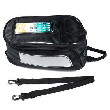 Waterproof Expandable Touch Screen Motorcycle Tank Bag Magnetic Pouch Luggage Mobile Phones GPS Storage Racing Rear Tail Seat Saddlebags