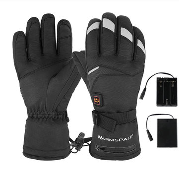 Electric Heating Gloves Battery Ski Motorcycle Heated Gloves Winter Hand Warmer